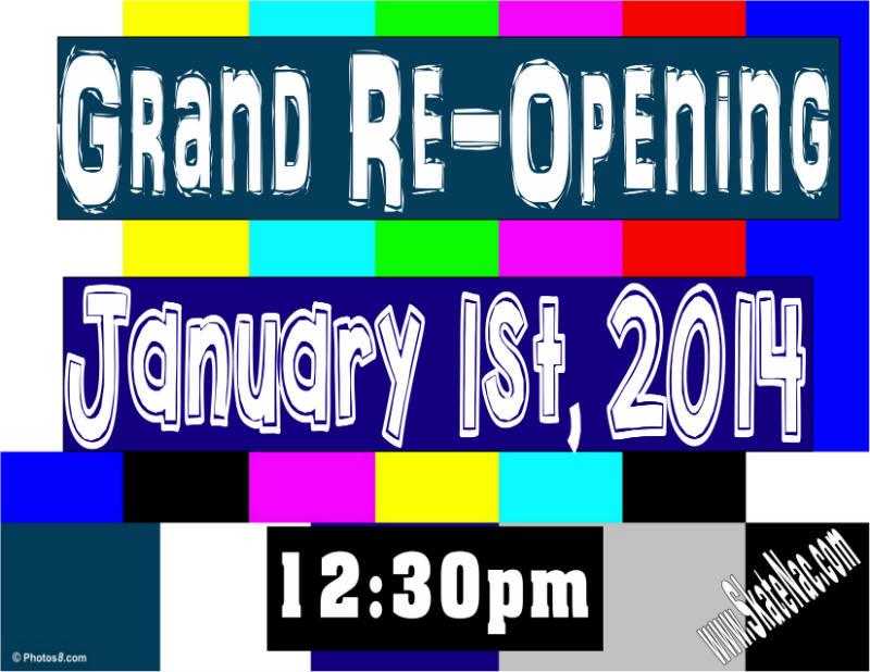 SOR Grand Reopening Jan 1st site