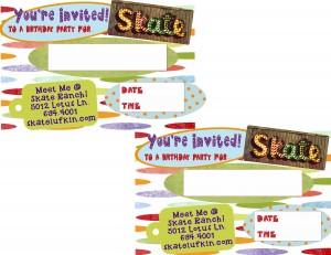 Skate Rance Invitation